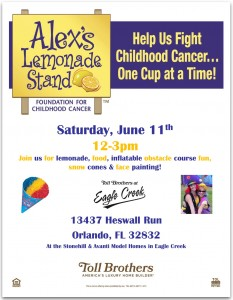 Toll Brothers: Alex's Lemonade Stand @ Toll Brothers Model Homes   Orlando   Florida   United States