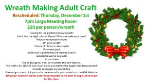 Rescheduled: Wreath Making Class @ Recreation Center Small Meeting Room | Orlando | Florida | United States