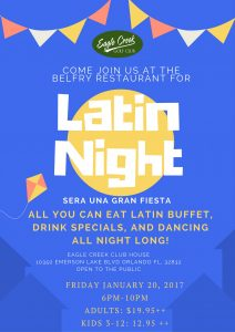 Latin Night at the Belfry @ The Belfry Restaurant  | Orlando | Florida | United States