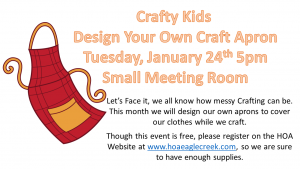 Crafty Kids: DIY Craft Aprons @ Small Meeting Room  | Orlando | Florida | United States