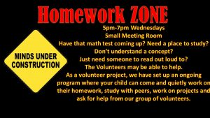 Homework ZONE Wednesdays 5pm-7pm @ Recreation Center Small Meeting Room | Orlando | Florida | United States