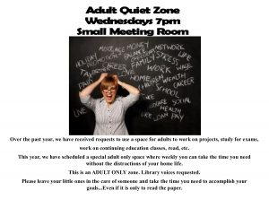 Adult Quiet Zone