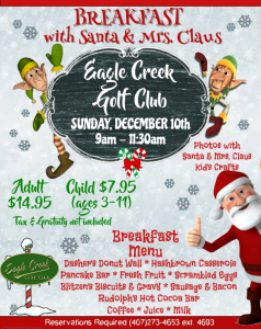 Breakfast with Santa and Mrs. Claus @ The Belfry Restaurant | Orlando | Florida | United States