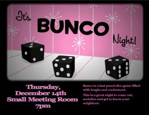 December Bunco Night @ Small Meeting Room  | Orlando | Florida | United States