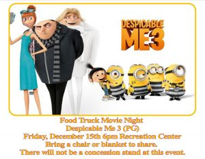 Food Truck & Movie Night: Despicable Me 3 (PG) @ Recreation Center | Orlando | Florida | United States