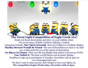 The Great Light Competition of Eagle Creek 2017 @ Eagle Creek Community  | Orlando | Florida | United States