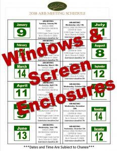 Calendar Bold Windows and Screen Enclosures