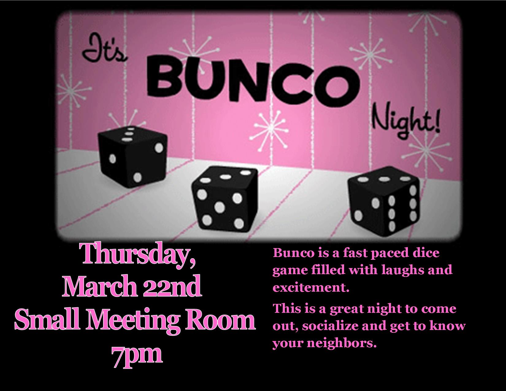 Movie Madness Mar2018 Bunco